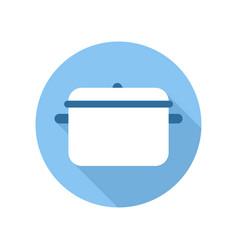pan saucepan icon kitchen pot equipment sign and vector image