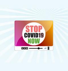 Pandemic stop novel coronavirus outbreak covid-19 vector