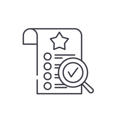 quality control line icon concept quality control vector image