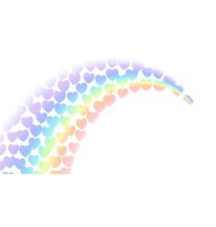 rainbow gradient white background community vector image