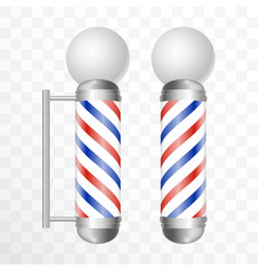 realistic barber pole vector image
