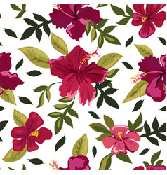 red lilies in bloom summer flowers pattern vector image