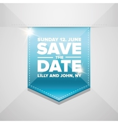 save date ribbon vector image