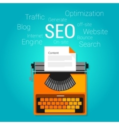 Seo content marketing strategy concept search vector