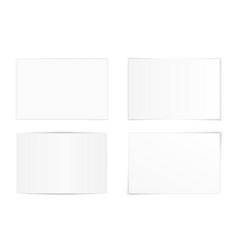 set curved photo frames vector image