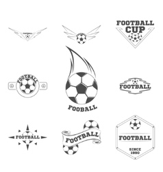 set football logo for team and cup vector image