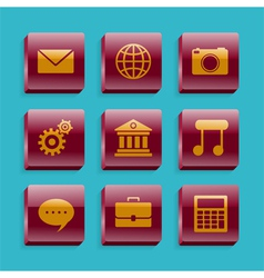 Set of basic icons vector