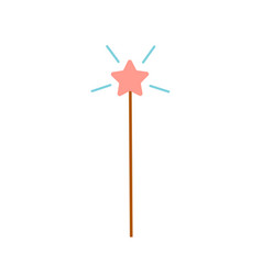 simple icon magic wand with star on its vector image