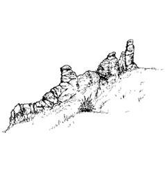 Sketch rocks vector