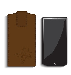 Smart phone and case vector
