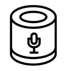 Smart speaker microphone icon outline style vector
