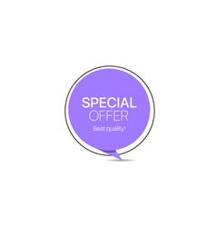 Special offer trendy paper label promo banner vector