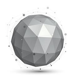Spherical monochrome digital eps8 object vector
