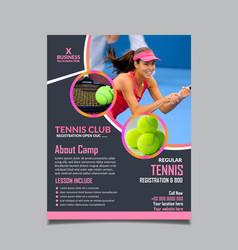 tennis camp flyer design template fully editable vector image