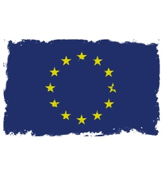 Threadbare flag of European Union vector
