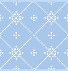 Tile pastel blue and white decorative floor tiles vector