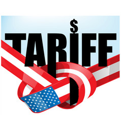 united states flag tariffs protectionist trade vector image