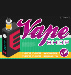 vape banner for web or print vector image