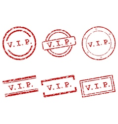 Vip stamps vector image