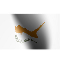 wave flag country with shadow and glare vector image
