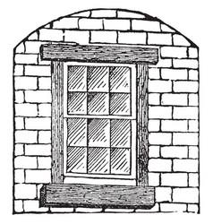Window decorative glazing pattern vintage vector
