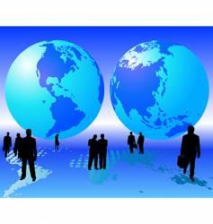 worldwide business vector image