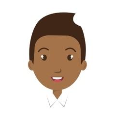 Young boy colorful cartoon design vector image