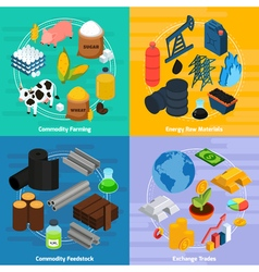 Commodity concept icons set vector