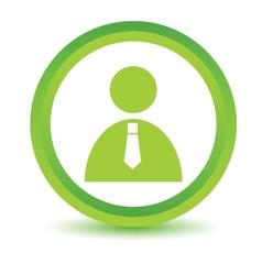 Green man icon vector image vector image
