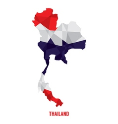 Map of Thailand vector image