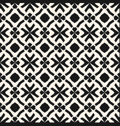 monochrome geometric pattern in ethnic style vector image vector image
