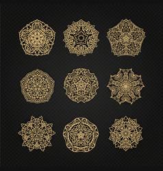 set of thai art element graphic thai design eps10 vector image