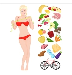 Beautiful sport Thin and Health female woman vector image
