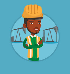 cnfident oil worker vector image