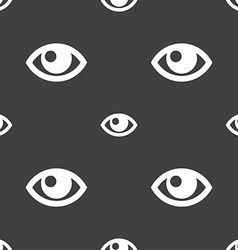 Eye sign Seamless pattern on a gray background vector image