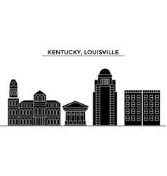 usa kentucky louisville architecture city vector image