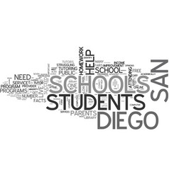 what will help the san diego schools text word vector image vector image