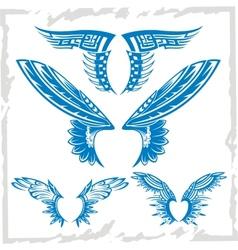 Wings Set Vinyl-ready vector image