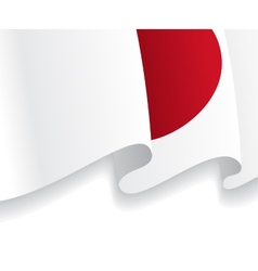 Background with waving Japanese Flag vector image