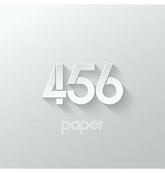 number four 4 five 5 six 6 logo paper set vector image