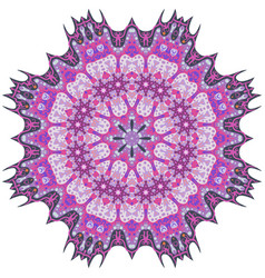 purple mandala template for decorating vector image vector image