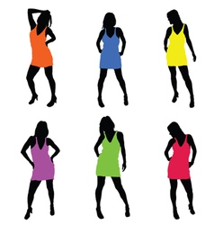 sexy girl in dress part two vector image