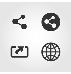 Share icons set flat design vector image vector image