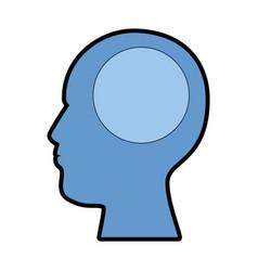 user profile silhouette avatar icon vector image