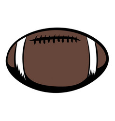 american football icon cartoon vector image