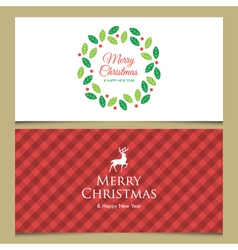christmas cards set 2 vector image