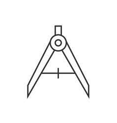 divider linear icon vector image