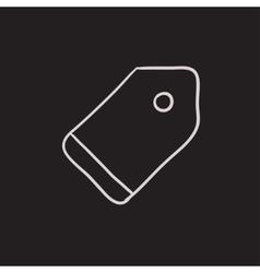Empty tag sketch icon vector image vector image