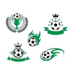 Football and soccer design elements vector image
