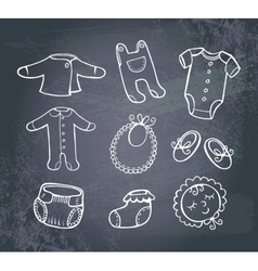 Infant clothes Icon set vector image vector image